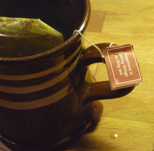 Yogi tea take things as they are