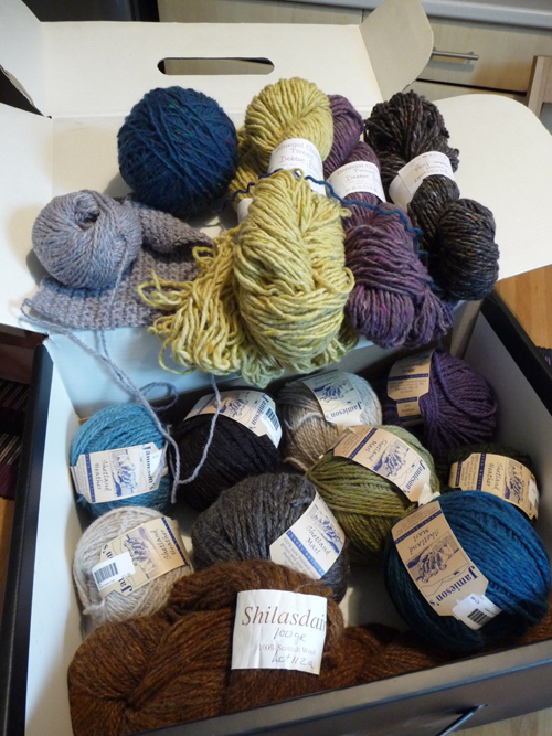Box of wool