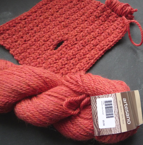 Burnt orange mitts