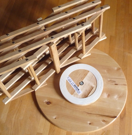 Wine rack lazy susan