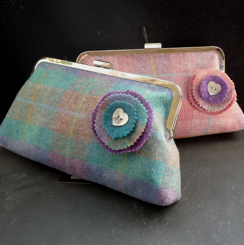 Lilac and pink clutch blog