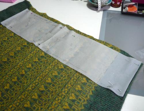 Paper pattern pinned