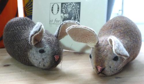 Wool bunnies