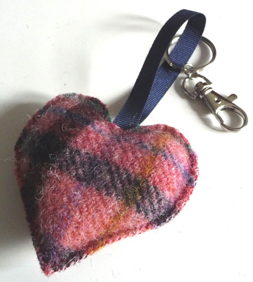 New heart bag charm