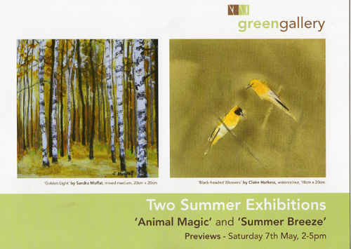 Green gallery flyer 1